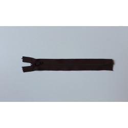 Barna cipzár - 17 cm