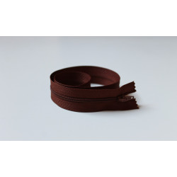 Rozsdabarna cipzár - 45 cm