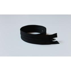 Fekete vékony cipzár - 44 cm